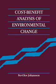 Cost-Benefit Analysis of Environmental Change