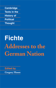 Fichte: Addresses to the German Nation