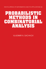 Probabilistic Methods in Combinatorial Analysis