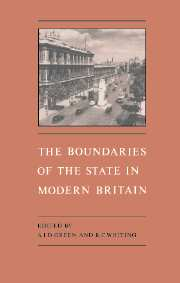 The Boundaries of the State in Modern Britain