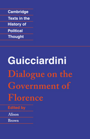 Guicciardini: Dialogue on the Government of Florence