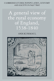 A General View of the Rural Economy of England, 1538–1840