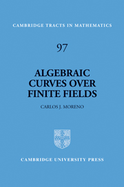 Algebraic Curves over Finite Fields
