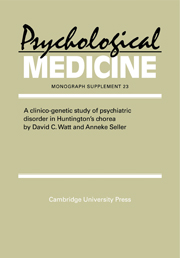 A Clinico-Genetic Study of Psychiatric Disorder in Huntington's Chorea