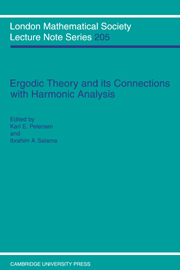 Ergodic Theory and Harmonic Analysis