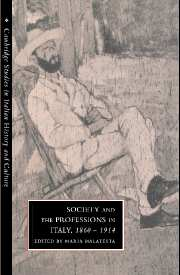 Society and the Professions in Italy, 1860–1914