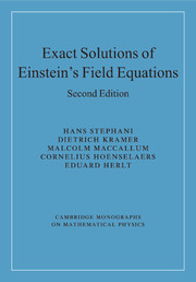Exact Solutions of Einstein's Field Equations
