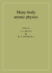 Many-Body Atomic Physics