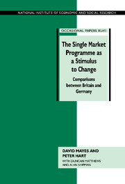 The Single Market Programme as a Stimulus to Change