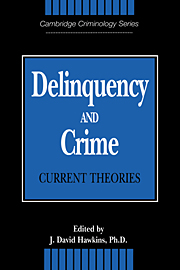 Delinquency and Crime