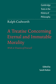 Ralph Cudworth: A Treatise Concerning Eternal and Immutable Morality