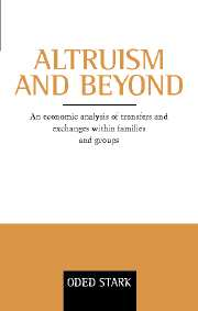 Altruism and Beyond
