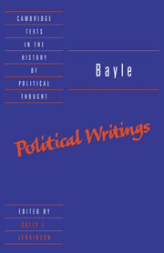 Bayle: Political Writings