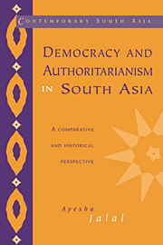 Democracy and Authoritarianism in South Asia