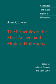Anne Conway: The Principles of the Most Ancient and Modern Philosophy
