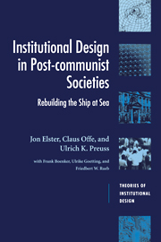 Institutional Design in Post-Communist Societies