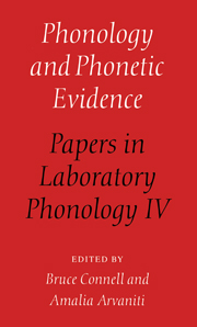 Phonology and Phonetic Evidence
