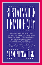 Sustainable Democracy