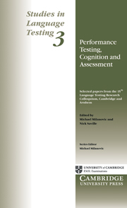 Performance Testing, Cognition and Assessment