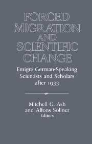 Forced Migration and Scientific Change