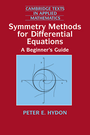 Symmetry Methods for Differential Equations