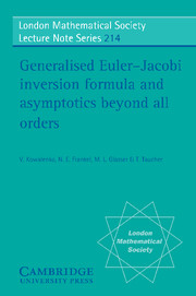 Generalised Euler-Jacobi Inversion Formula and Asymptotics beyond All Orders