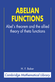Abelian Functions
