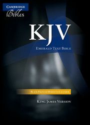 KJV Emerald Text Edition Black French Morocco Leather