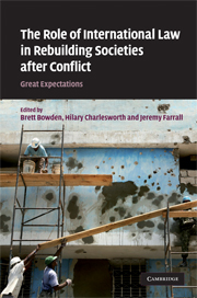 The Role of International Law in Rebuilding Societies after Conflict