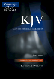 KJV Concord Reference Bible, Black Edge-Lined Goatskin Leather, Red Letter Text KJ566:XRE