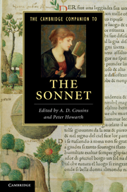 The Cambridge Companion to the Sonnet
