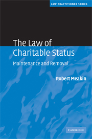 The Law of Charitable Status