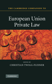 The Cambridge Companion to European Union Private Law