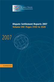 Dispute Settlement Reports 2007