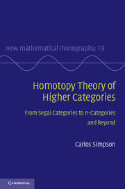 Homotopy Theory of Higher Categories