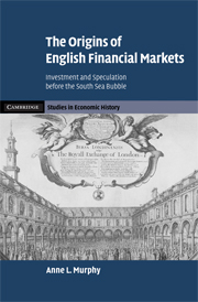 The Origins of English Financial Markets
