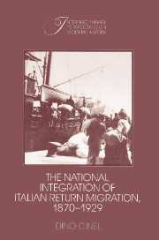 The National Integration of Italian Return Migration, 1870–1929