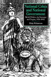 National Crisis and National Government
