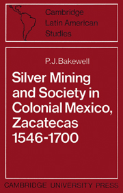 Silver Mining and Society in Colonial Mexico, Zacatecas 1546–1700
