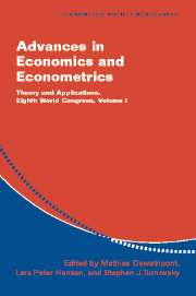 Advances in Economics and Econometrics