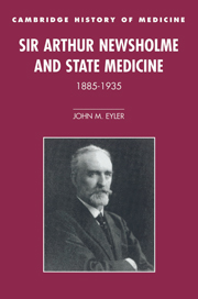 Sir Arthur Newsholme and State Medicine, 1885–1935
