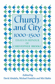 Church and City, 1000–1500
