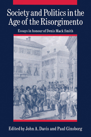 Society and Politics in the Age of the Risorgimento