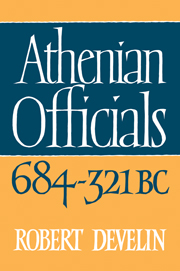 Athenian Officials 684–321 BC