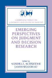Emerging Perspectives on Judgment and Decision Research