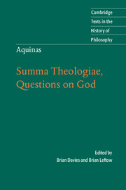 Aquinas: Summa Theologiae, Questions on God