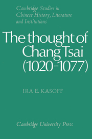 The Thought of Chang Tsai (1020–1077)