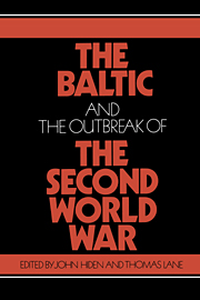 The Baltic and the Outbreak of the Second World War