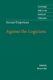 Sextus Empiricus: Against the Logicians