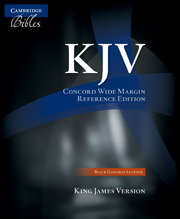 KJV Concord Wide Margin Reference Bible, Black Edge-lined Goatskin Leather, KJ766:XME